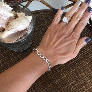"""VINTAGE Sterling Silver Link 7"""" Bracelet"""